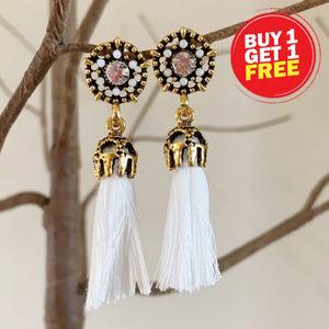 BOGO! Vintage White Tassel Earrings
